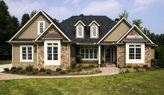 288 best images about house exteriors on pinterest for Medium house plans