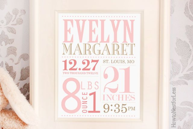 baby announcement subway art printable Be a gift i could mail to my friends and they could frame.....or could you somehow do with wedding like their names date place...i dunno jus live the look of these things!