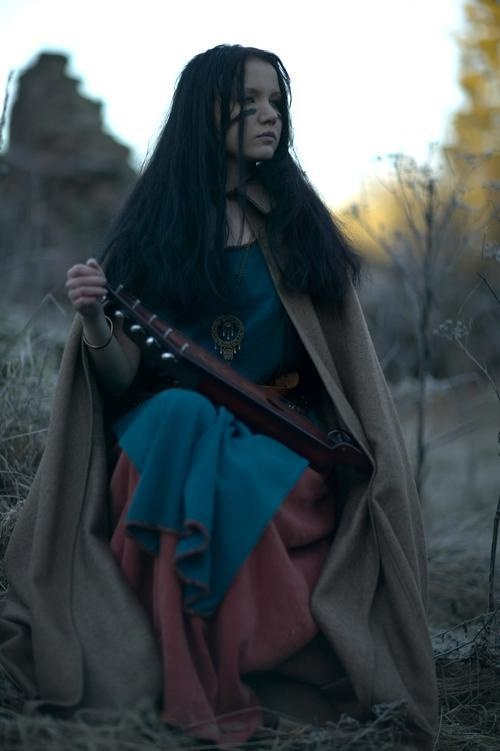 Finnish girl with Kantele.  Have always wanted to get more to an earth based wear, this is just a perfect display.