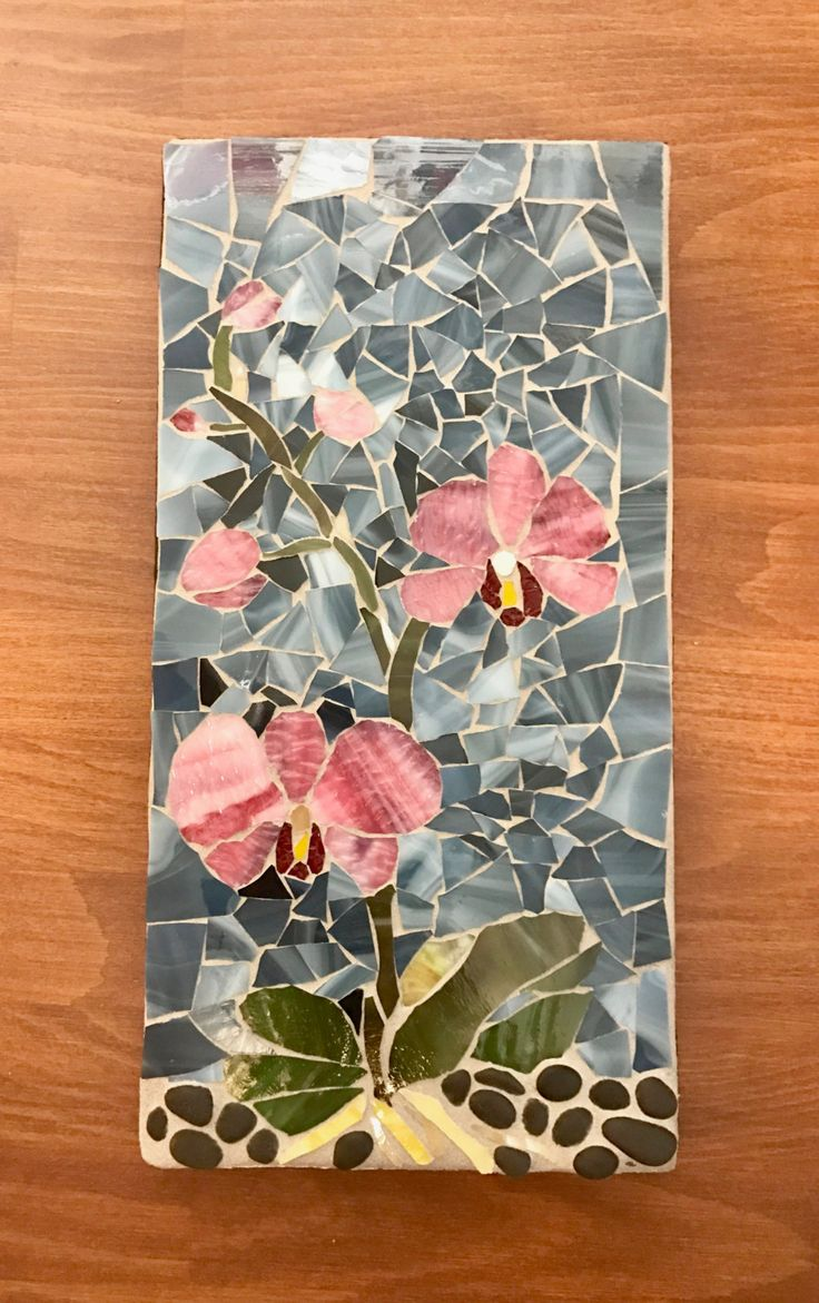 The Orchid's Beauty: Stained Glass Mosaic Outdoor Wall Decor by MaitriMosaics on Etsy