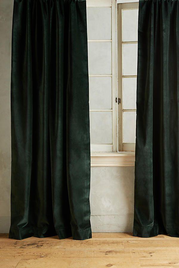 Matte Velvet Curtain   Anthropologie