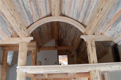 Blue Lodgepole Pine Wormwood Ceiling Beetle Kill Lumber
