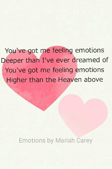 Emotions by Mariah Carey. Had to pin this because I love this song.<3