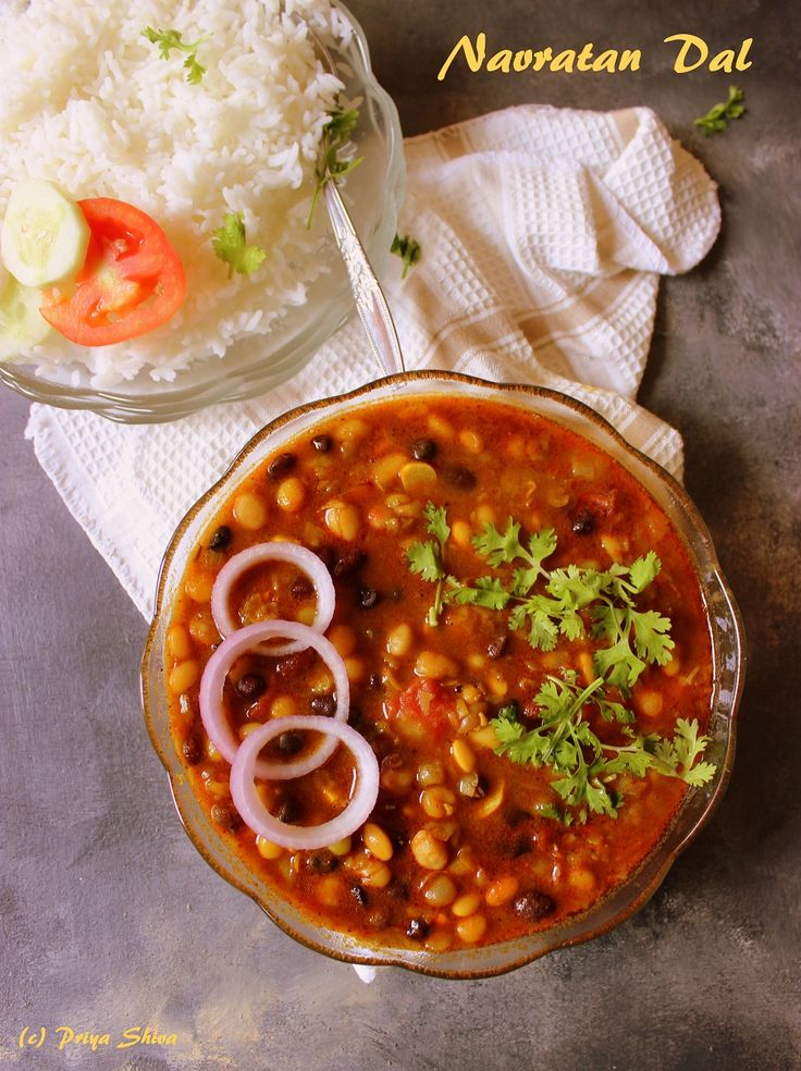 Navratna Dal - Navratna means nine gems. So, navratan dal is a mix of nine lentils and legumes. It is extremely good for health and power packed food.