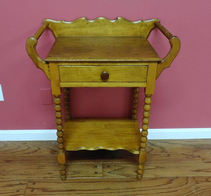 Antique Early American Style Wash Stand Antiques Wash