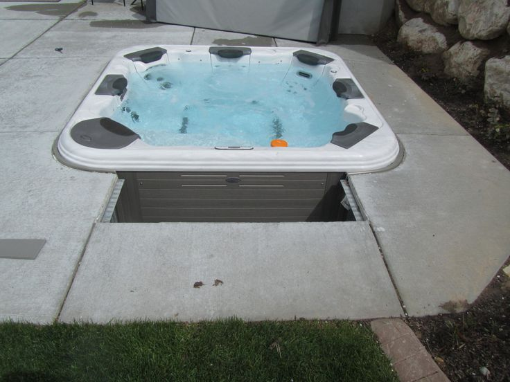"Image result for Portable Spa With an ""In-ground"" look"