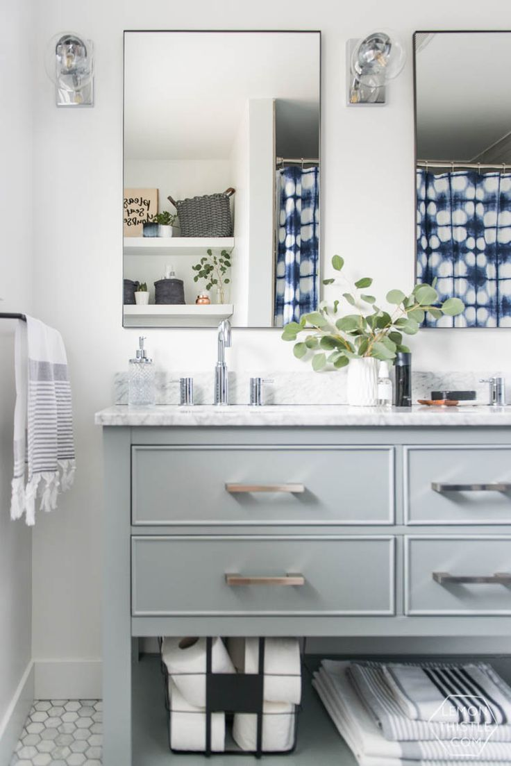 classic bathroom makeover with modern details