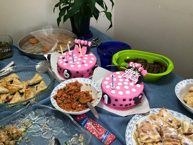Deniz'imin 6. Güneş'imin 1. Doğum günü pastası  nice yılları olsun güzel prenseslerimin, teyzelerinin tatlıları  #birthdaycake #miniecake #fondantcake
