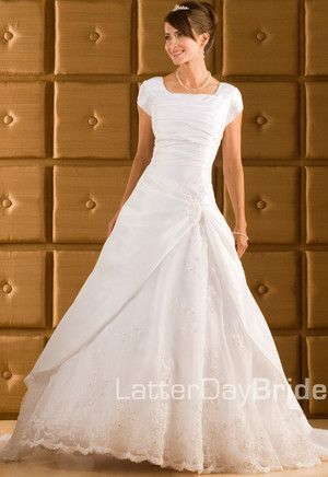 Modest Wedding Dress, Kaori | LatterDayBride & Prom