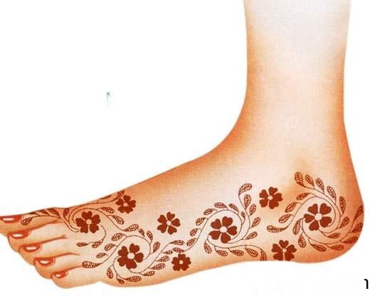 Feet Henna designs