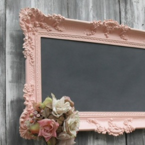 Shabby Chic chalkboard - would go perfect in girls room!