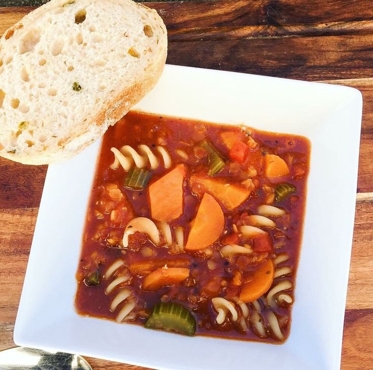 As the weather cools down, tuck into a hearty soup like this Autumn Minestrone. It features plenty of veggies and is just 333 calories per serve.