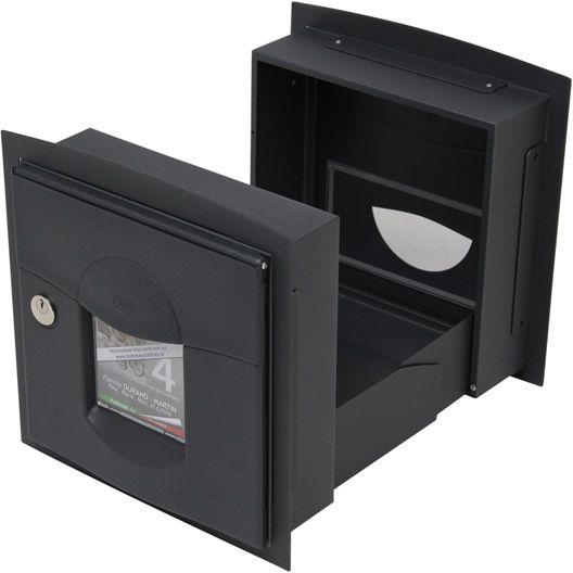 Boîte aux lettres RENZ Soléa normalisée gris anthracite en acier