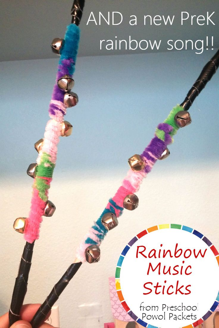 Preschool rain stick craft - Rainbow Preschool Music Craft Song