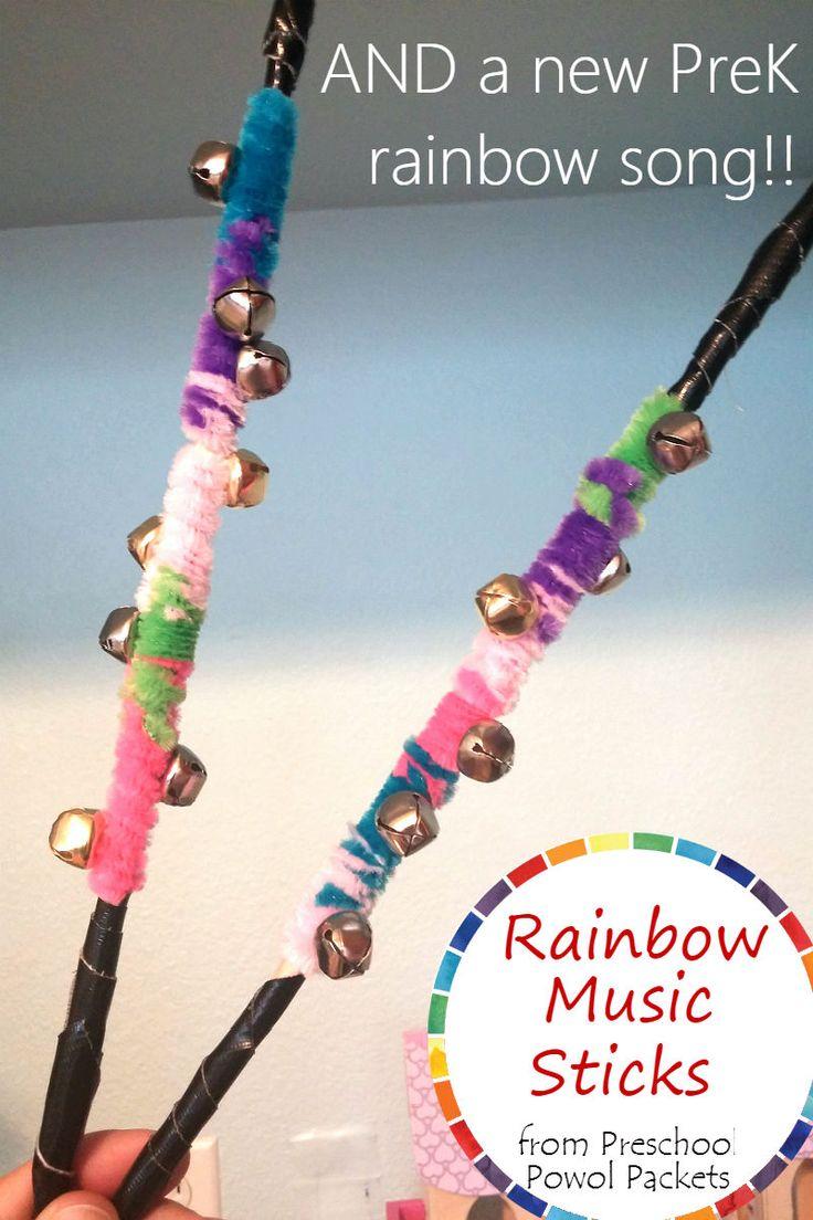 Fun!! Rainbow preschool musical instruments AND a new rainbow song!!