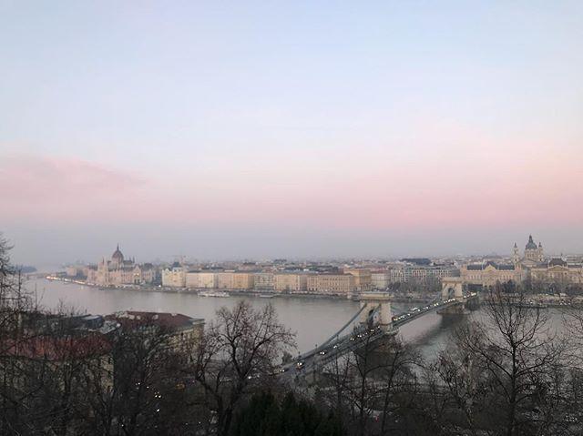 Never felt so cold in my life #budapest #viewoverpest #pest #budapestparliament #danube #riverdanube #sunset #sunset