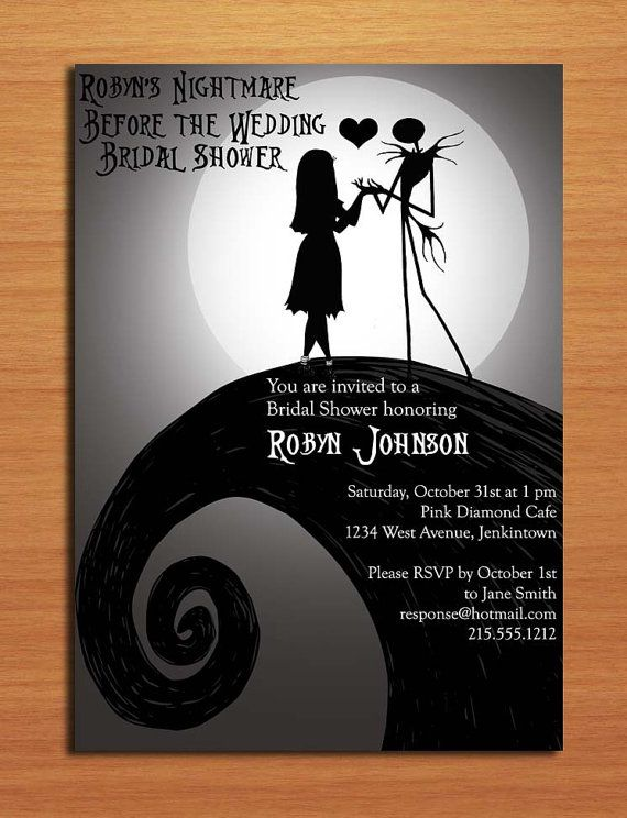 Nightmare Before Christmas Bridal Shower Invitation                                                                                                                                                     More