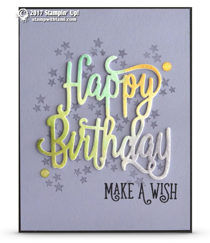 CARD: Watercolored Happy Birthday Make a Wish Card | Stampin Up Demonstrator - Tami White - Stamp With Tami Crafting and Card-Making Stampin Up blog