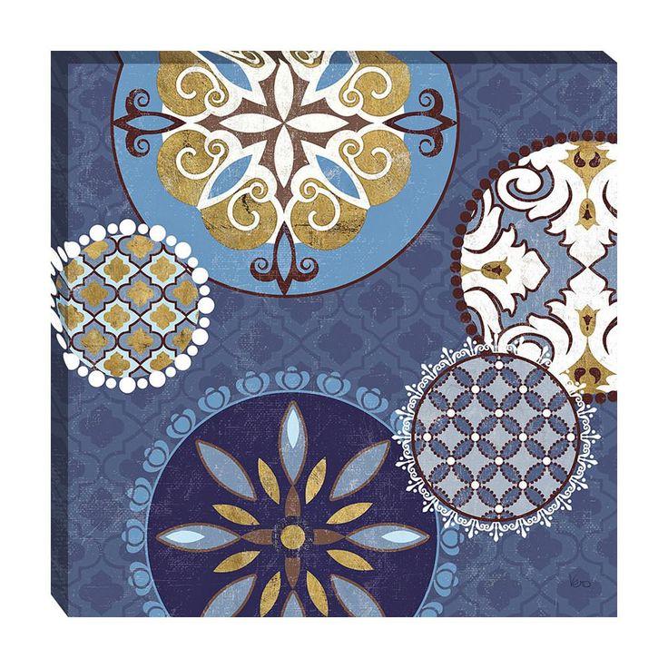 Home Decorative Mediterranean Blue II by Veronique Charron Framed Art Print