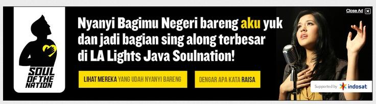 Indosat bikin activity, nyanyi Bagimu Negeri bareng-bareng.   Screenshoot diambil di channel Youtube Indosat bulan September 2012.