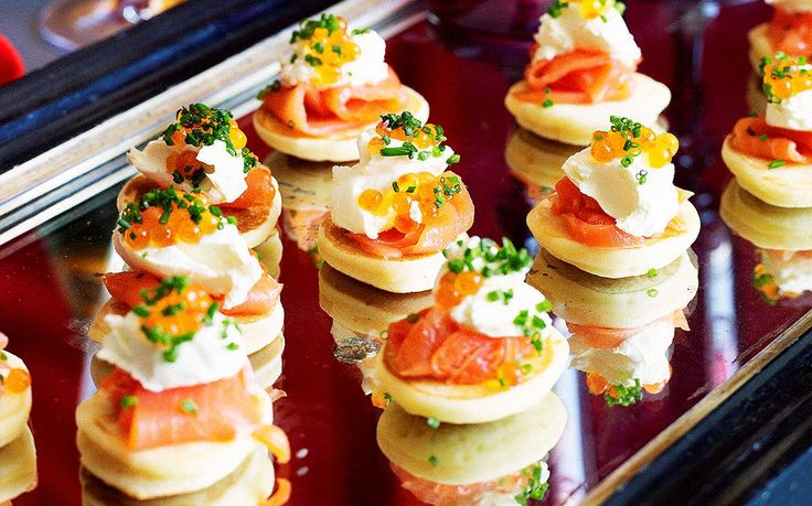 This easy blinis recipe with smoked salmon and creme fraiche from Australian Women's Weekly is great as a appertif or starter with caviar or roe.