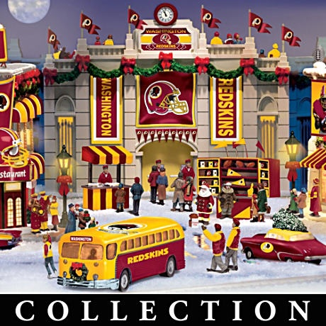 Washington Redskins Christmas Village collection $59.99