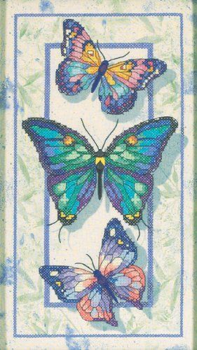 Dimensions Needlecrafts Stamped Cross Stitch Butterfly Trio >>> Want additional info? Click on the image.
