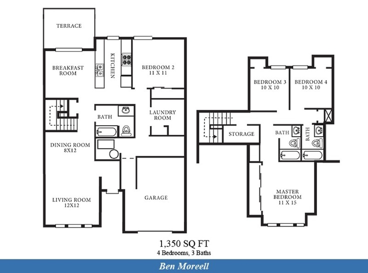 Perry Homes One Story Floor Plans