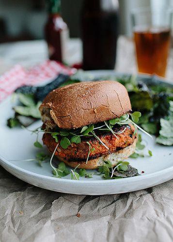 Cajun-Spiced Sweet Potato Burgers by theyearinfood #Burger #Veggie