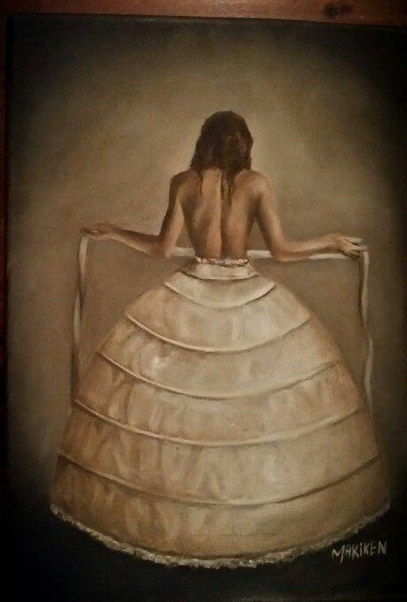 Oil painting. Mariken. My art. Budoir.