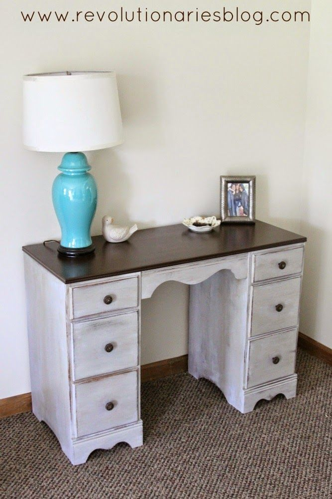 Before and After: The Two Toned Desk