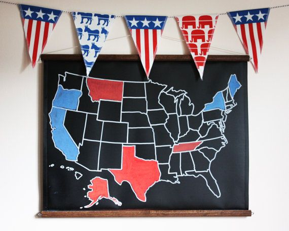 2016 Election Kit with US Chalkboard Map // by dirtsastudio