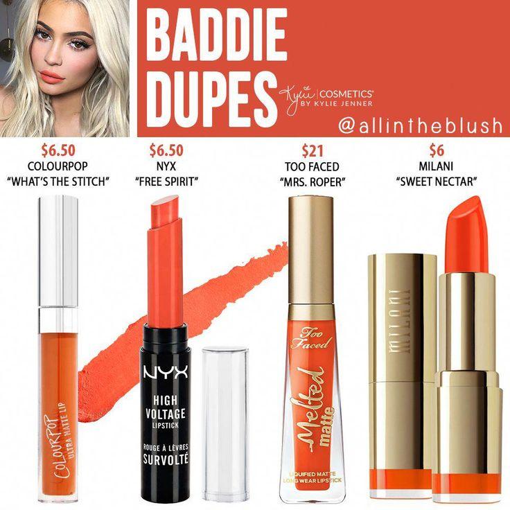 Kylie Cosmetics Baddie Liquid Lipstick Dupes