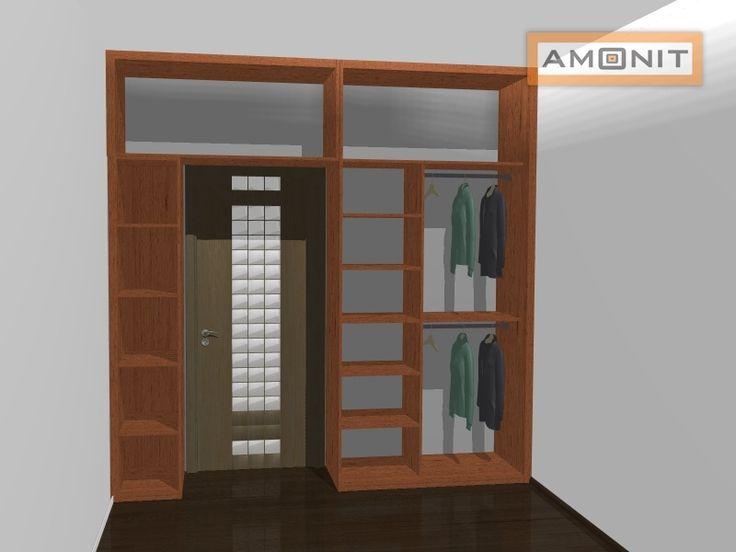 Ukázka vnitřního uspořádání vestavěné skříně - 13. varianta