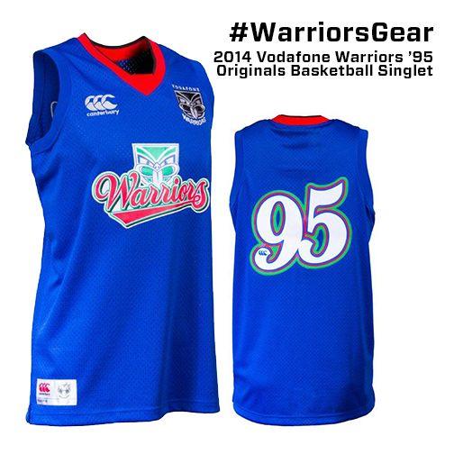 2014 Vodafone Warriors 2014 CCC 95' Basketball Singlet #WarriorsGear #WarriorsForever #NRL #Basketball #Singlet #Retro Go to www.warriorsstore.co.nz