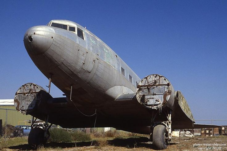 9/22/85, Chino, CA.  Derelict DC-3 N137D (c/n 2249)