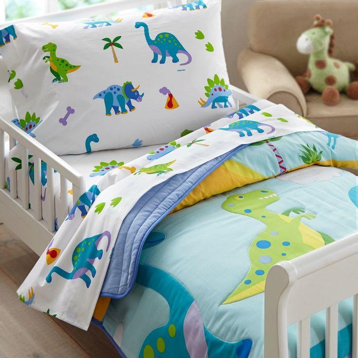 Olive Kids Dinosaur Land Toddler Comforter | Boys Bedding | Kids Bedding