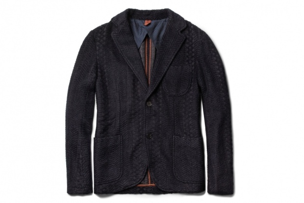 Missoni Unstructured Zigzag Knit Mohair and Wool Blend Blazer