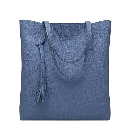 4887618f54 Anne Sac à main grand volume pour femme - Bleu - B Blue | Sac à main ...