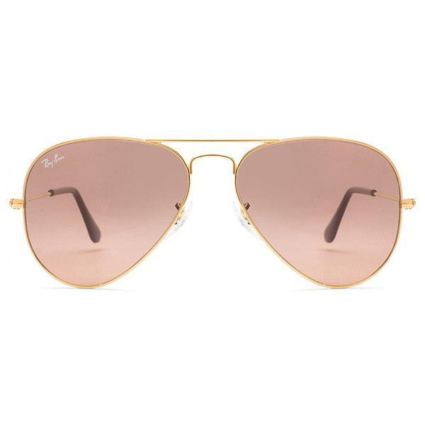 363a63043f Ray-Ban Aviator Large Metal 001 3E Gold ( 165) ❤ liked on Polyvore  featuring accessories