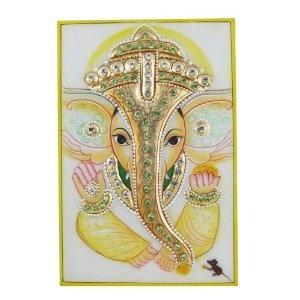 Ganesha God The Art of India Embossed Miniature Painting on Marble Plate (Kitchen)  http://documentaries.me.uk/other.php?p=B0069KJ196  B0069KJ196