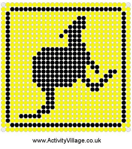 pixel art kangourou