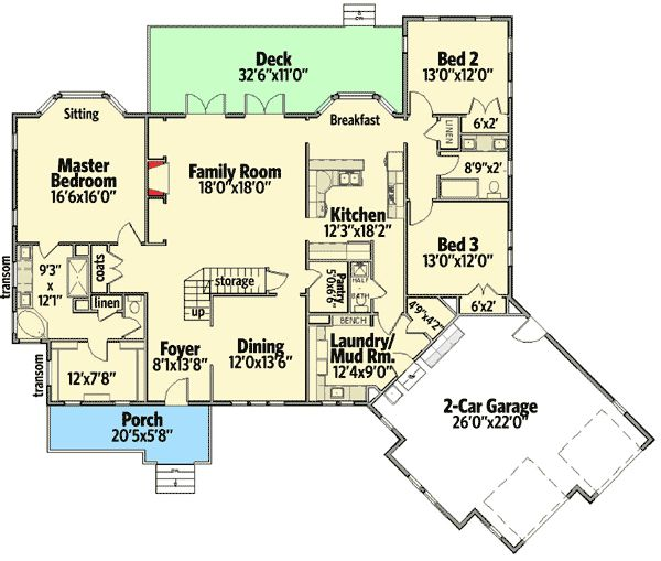 Plan 46224la handsome craftsman home with angled garage for Craftsman house plans first floor master