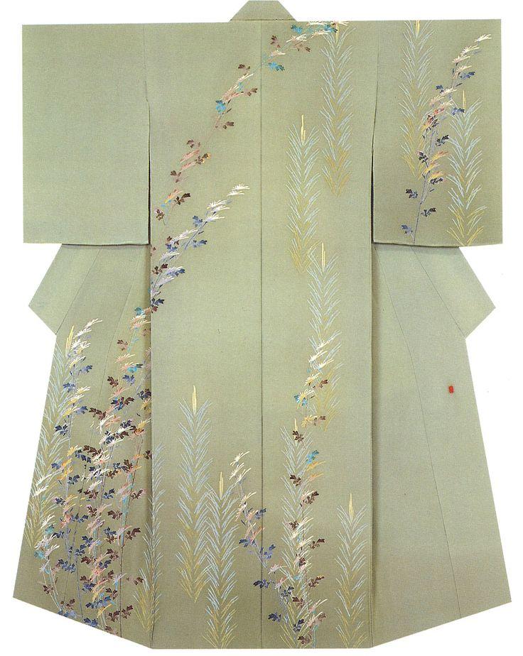 Kaga-Yuzen Kimono Takashi Chadani