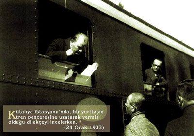 Atatürk ve vatandaş (Kütahya 1933)