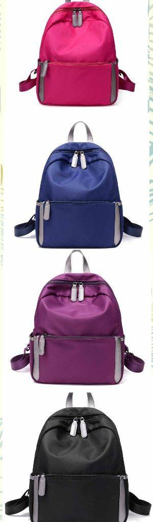 Women Girl's Oxford Cloth School Book Bag Zipper Casual Travel Shoulder Backpack