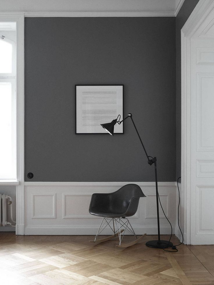 Best 25 dark grey walls ideas on pinterest for Grey interior walls