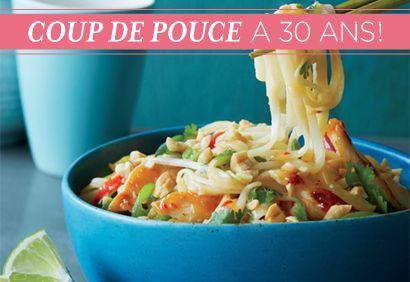 TOP  30 Recettes - No 28 > Pad #thaï au #poulet #CDP30