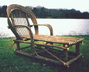 Chaise Lounge Made From Bent Willow Branches Chairs That Are Diffe Furniture Twig