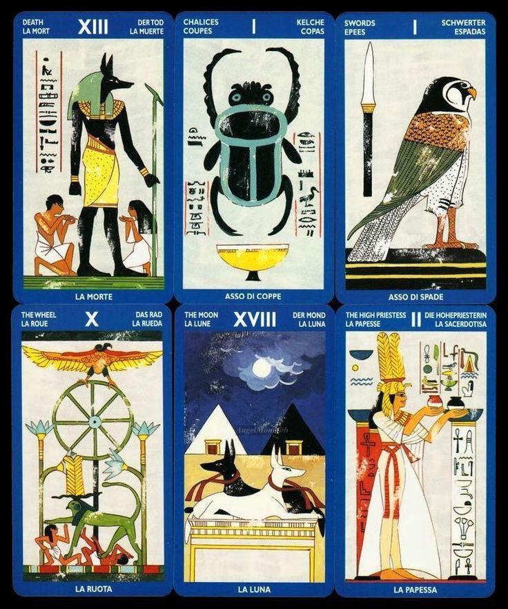 NEU RARITÄT 1998 Ägyptisches Tarot der Sphinx Deck 78 Tarotkarten Ägypten Egypt